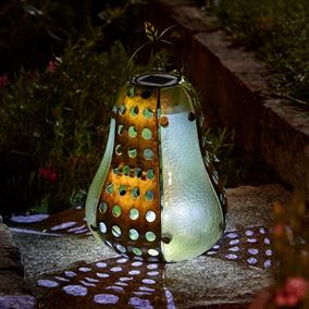 Funky Pear Solar Lantern Garden Light