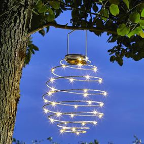Pack of 3 Solar Powered Spiral Lights (Various Colours)