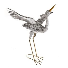 Wild Jungle Heron Metal Garden Ornament