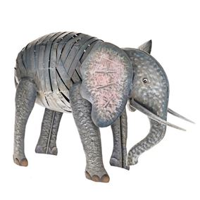 Wild Jungle Elephant Metal Garden Ornament