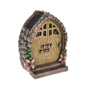 Secret Garden Solar Powered Fairy Door With Flowers