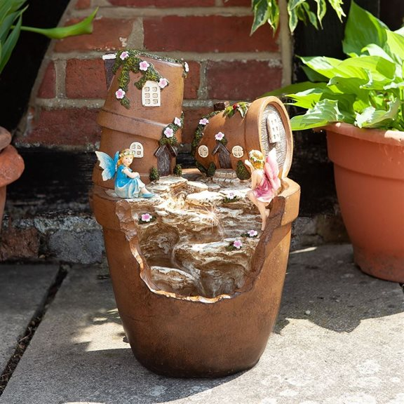Fairy Pots Solar Powered Garden Water Feature