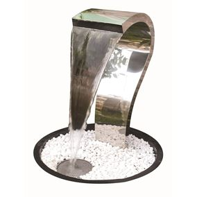 Tripoli Pouring Water Blade Style Stainless Steel Water Feature