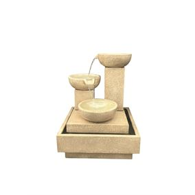 Trio Cascade Fountain (Sandstone Effect)