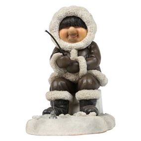 Eskimo Father Fishing Ornament