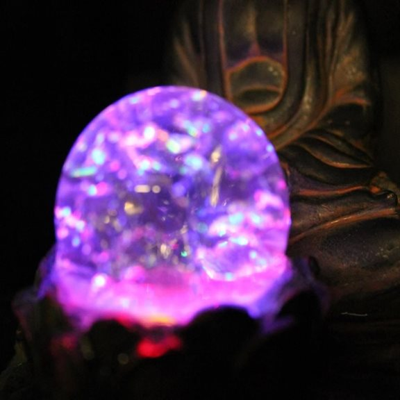 additional image for Buddha with LED Crystal Ball Table Top Water Feature