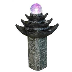 Large LED Spinning Crystal Ball Water Feature