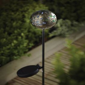 Solar Global Filigree Stake Light