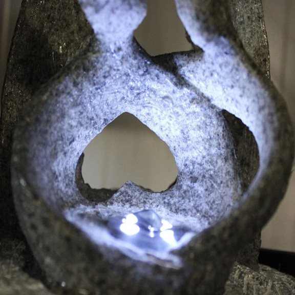 additional image for Couple with Grey Arch Lit Indoor Water Feature