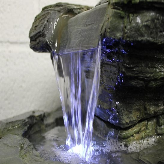 additional image for Multifall Slate (360 Degrees) Water Feature with LED Lights