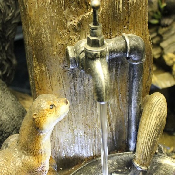 additional image for 2 Otters at Tap Water Feature with LED Light