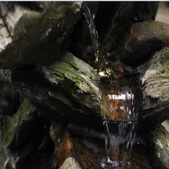 additional image for Large 6 Fall Woodland Lit Water Feature