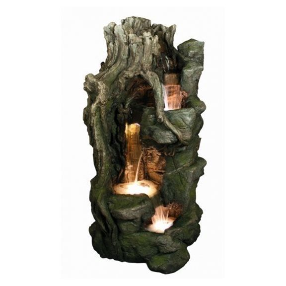 Woodland Multi Falls Water Feature with LED Lights