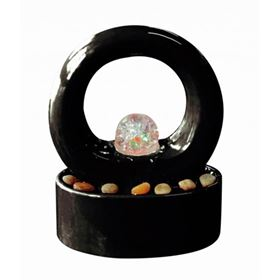 Roselle Indoor Tabletop Lit Water Feature with Crystal Ball
