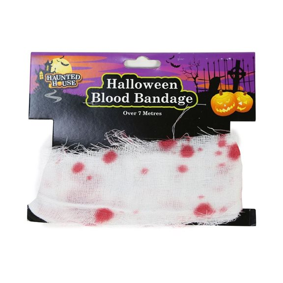 Blood Stained Gauze Halloween Bandage Fancy Dress Accessory