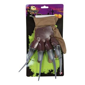Halloween Horror Glove with Claws Fancy Dress Accessory