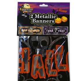 Halloween Foil Banner Decoration (Pack of 2)