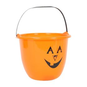 Halloween Pumpkin Design Trick or Treat Sweetie Bucket
