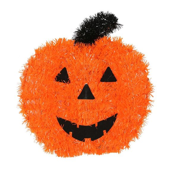 additional image for Pumpkin and Ghost Tinsel Wall Plaques (Pack of 2) Halloween Decoration