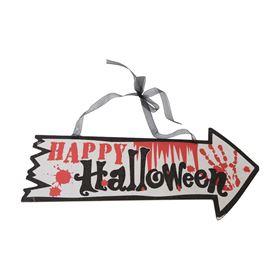 Happy Halloween Wooden Hanging Decoration
