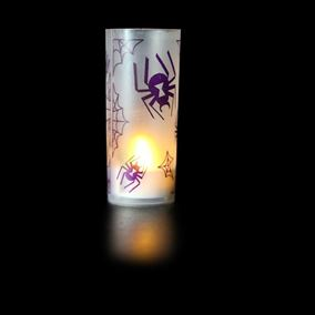 Creepy Crawling Spiders Halloween Candle Decoration