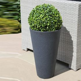 Round Capri Charcoal Flower Pot
