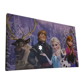Disney's Frozen Characters LED Lit Wall Canvas