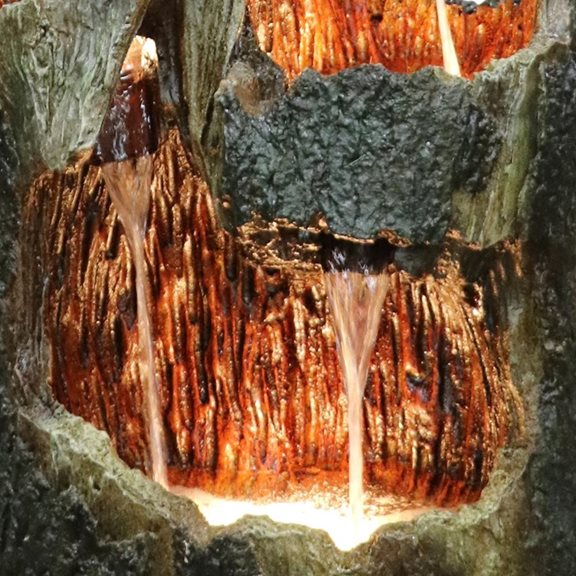 additional image for 5 Fall Open Tree Trunk Water Feature