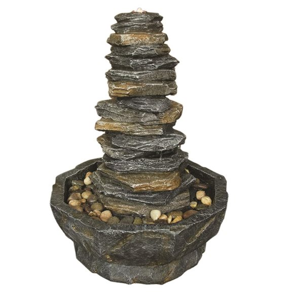 Stacked Slate Monolith Water Feature