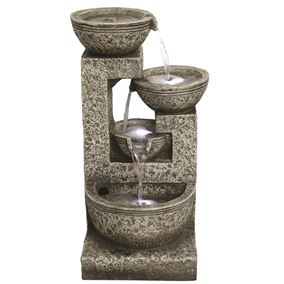 Medium Grey 4 Bowl Water Feature
