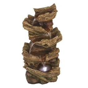 Woodland Falls Water Feature with LED Light