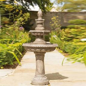 Large 1.3m Classic Two Tiered Centrepiece Water Feature