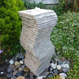 Cascading Wave Beige Granite Water Feature Kit