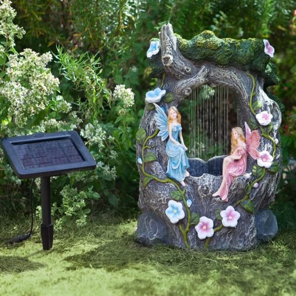 Solar Powered Fairy Rainfall Water Feature
