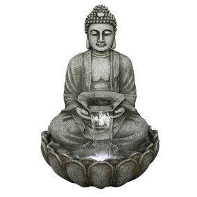 Grey Sitting Buddha Water Feature