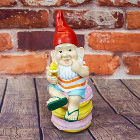 Sugar Stack Cute Garden Gnome With Ice Cream