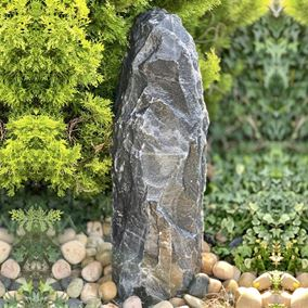 80cm Black Angel Monolith Water Feature Kit with LED Lights
