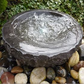Black Babbling Bowl Limestone Water Feature Kit