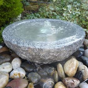 Granite Babbling Bowl Grey Water Feature Kit