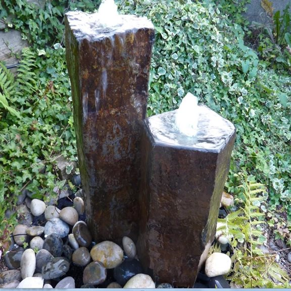 Set of Two Basalt Columns Water Feature Kit