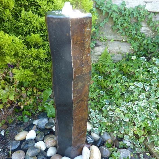 Polished Basalt Column Water Feature Fountain Kit