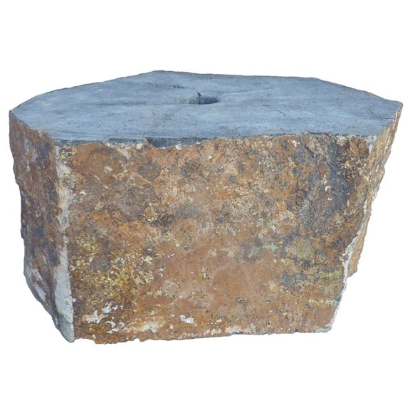 Basalt Plinth Drilled Water Feature Support