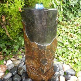 70cm Polished Top Basalt Fountain Water Feature Kit with Lights