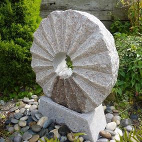 Pink Granite Rising Sun Fountain Water Feature Kit