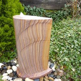 70cm Angel's Wing Rainbow Sandstone Water Feature Kit