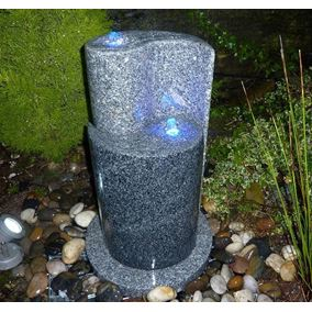 65cm Yin Yang Two Tone Granite Water Feature Kit