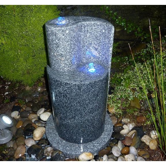 additional image for 65cm Yin Yang Two Tone Granite Water Feature Kit
