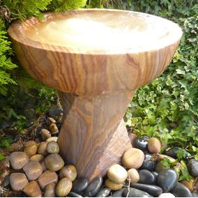 52cm Babbling Bowl on Twisted Column Water Feature Kit with Lights