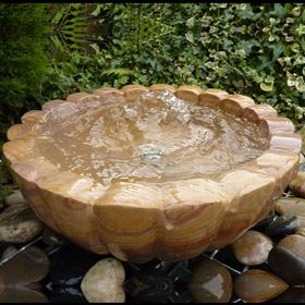 45cm Granite Rainbow Flower Bowl Water Feature Kit (Small)