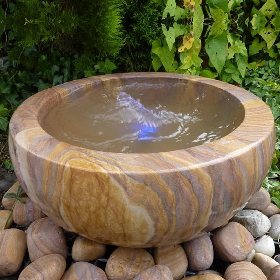 50cm Rainbow Babbling Urn Water Feature Kit With LED Lights